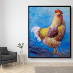 Framed 48 x 60 - Beautiful rooster