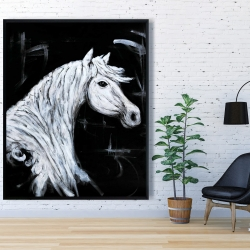 Framed 48 x 60 - Horse profile view
