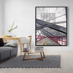 Framed 48 x 60 - Under the brooklyn bridge