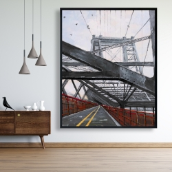 Framed 48 x 60 - Bridge architecture