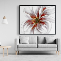 Framed 48 x 60 - Resplendent pink orchid