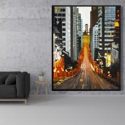 Framed 48 x 60 - San francisco by night
