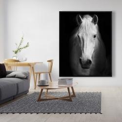 Framed 48 x 60 - Monochrome horse