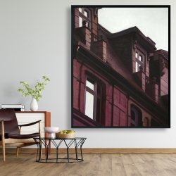 Framed 48 x 60 - Architectural building