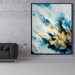 Framed 48 x 60 - Blue marble