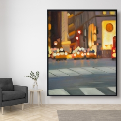Framed 48 x 60 - Blurred view of new york