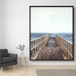 Framed 48 x 60 - Relaxing beach