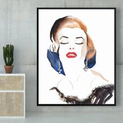 Framed 48 x 60 - Vintage chic maryline monroe