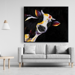 Framed 48 x 60 - One funny cow