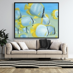 Framed 48 x 60 - Butterfly fishes