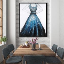 Framed 48 x 60 - Blue princess dress