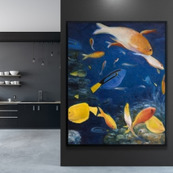 Framed 48 x 60 - Colorful fish under the sea