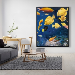 Framed 48 x 60 - Fish under the sea