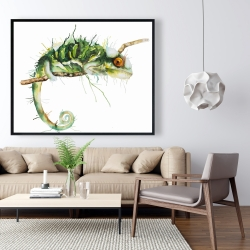 Framed 48 x 60 - Chameleon on the lookout