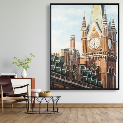 Framed 48 x 60 - St-pancras station in london