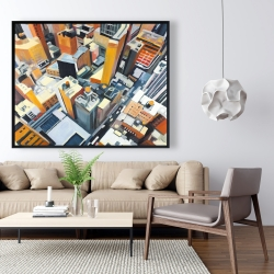 Framed 48 x 60 - High top view of buildings in new york