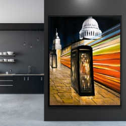 Framed 48 x 60 - Fast london bus