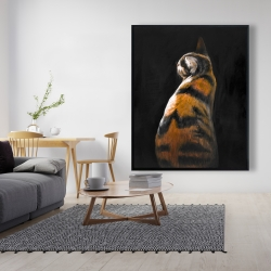 Framed 48 x 60 - Spotted cat
