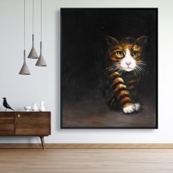 Framed 48 x 60 - Discreet cat