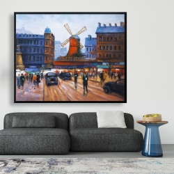 Framed 48 x 60 - Street scene to moulin rouge