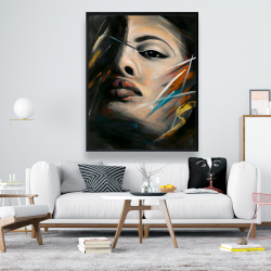 Framed 48 x 60 - Abstract woman portrait