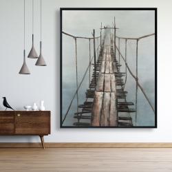 Framed 48 x 60 - Old abandoned bridge