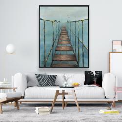 Framed 48 x 60 - Old and dangerous bridge