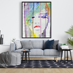 Framed 48 x 60 - Abstract colorful portrait