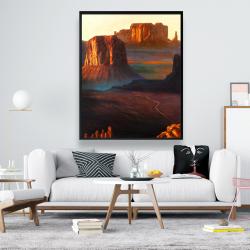 Framed 48 x 60 - Monument valley tribal park in arizona