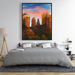 Framed 48 x 60 - Cathedral rock in arizona
