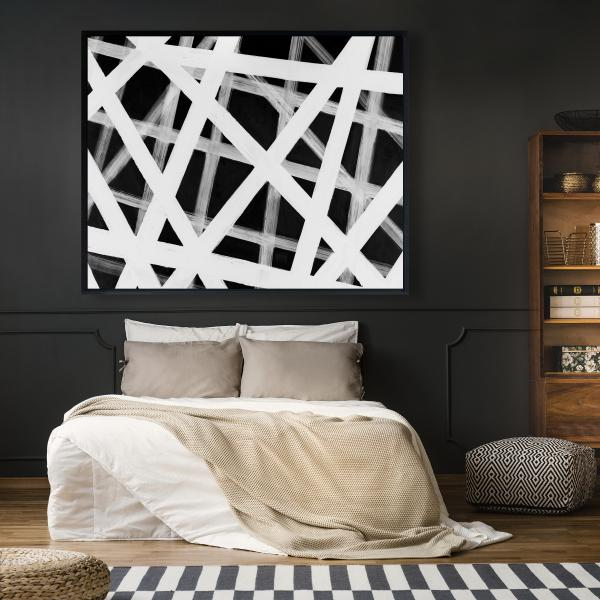 Framed 48 x 60 - Geometric stripes