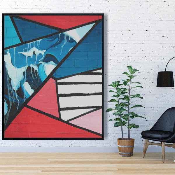 Framed 48 x 60 - Diagonal unity