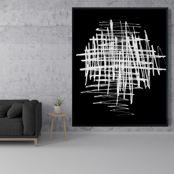 Framed 48 x 60 - Contrast