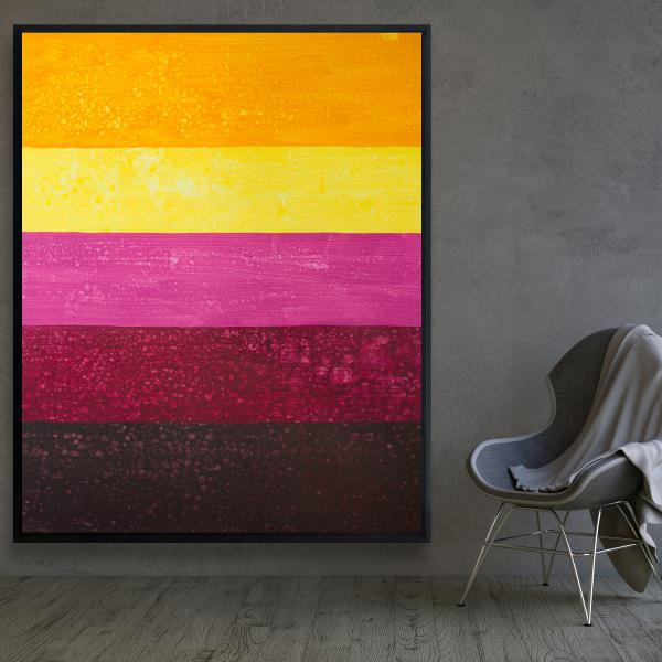 Framed 48 x 60 - Live stripes