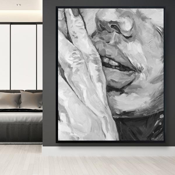 Framed 48 x 60 - Luscious lips