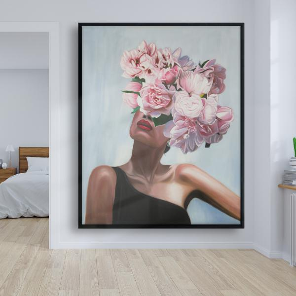 Framed 48 x 60 - See life in flowers