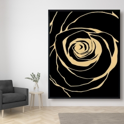 Framed 48 x 60 - Black rose