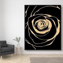 Framed 48 x 60 - Black rose