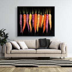 Framed 48 x 60 - Carrots varieties