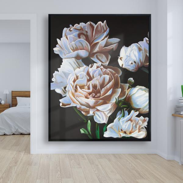 Framed 48 x 60 - Peonies
