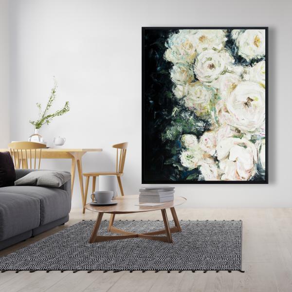 Framed 48 x 60 - Garden roses