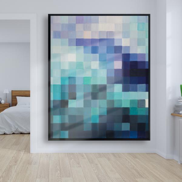 Framed 48 x 60 - Pixelized landscape
