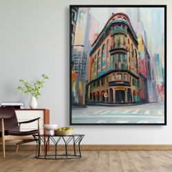 Framed 48 x 60 - Building architecture in new-york