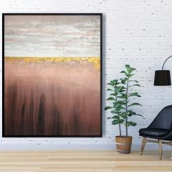 Framed 48 x 60 - Golden pink
