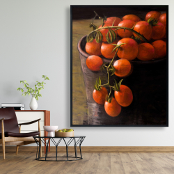 Framed 48 x 60 - Bucket of cherry tomatoes