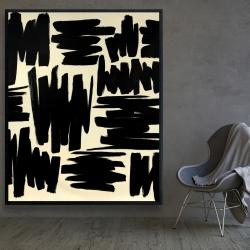 Framed 48 x 60 - Deconstructed stripes