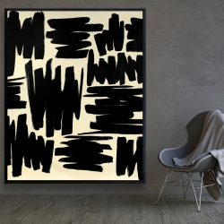 Framed 48 x 60 - Deconstructed stripes