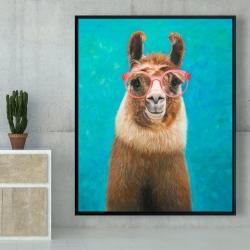 Framed 48 x 60 - Lovable llama