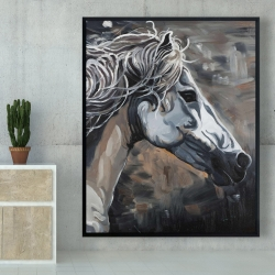 Framed 48 x 60 - Side of a wild horse
