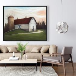 Framed 48 x 60 - White barn